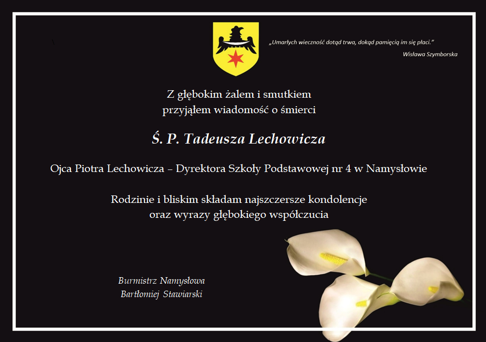 kondolencje - Tadeusz Lechowicz.png