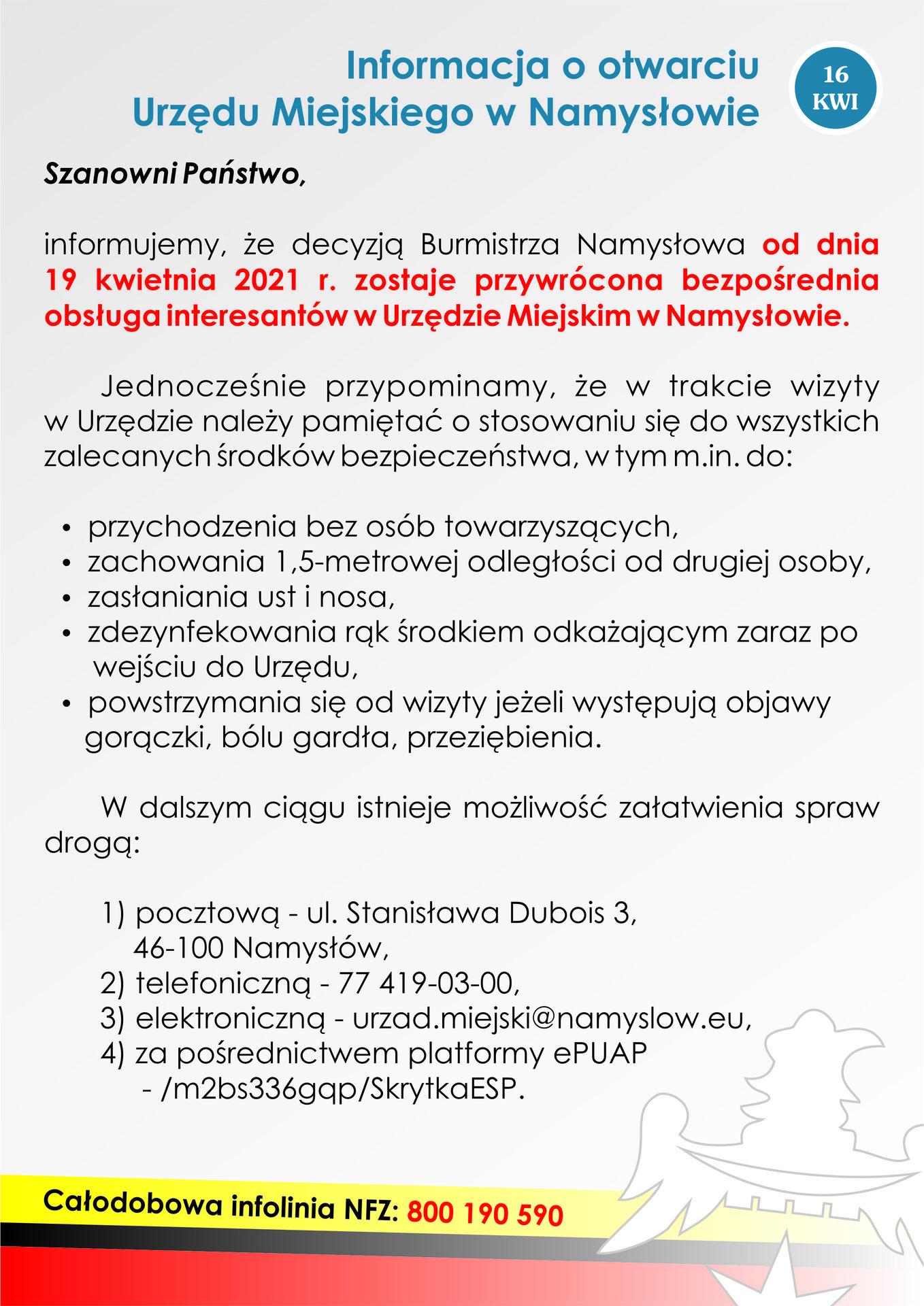 Informacja o otwarciu urzędu (16-04-2021).jpeg