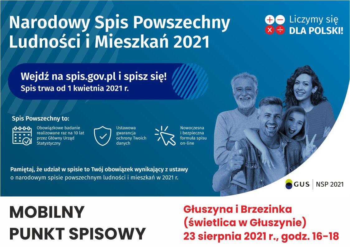Mobilny punkt spisowy - Głuszyna, Brzezinka.jpeg