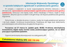 Informacja Wojewody Opolskiego w sprawie kolejnych ograniczeń w przekraczaniu granicy.jpeg