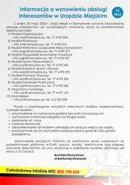 Informacja o wznowieniu obsługi interesantów w Urzędzie Miejskim w Namysłowie.jpeg
