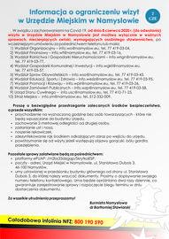 Informacja o ograniczeniu wizyt w Urzędzie Miejskim w Namysłowie.jpeg