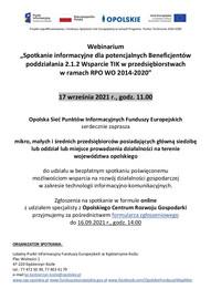 Ogłoszenie dot. Webinarium - 2.1.2 RPO WO 2014-2020.jpeg